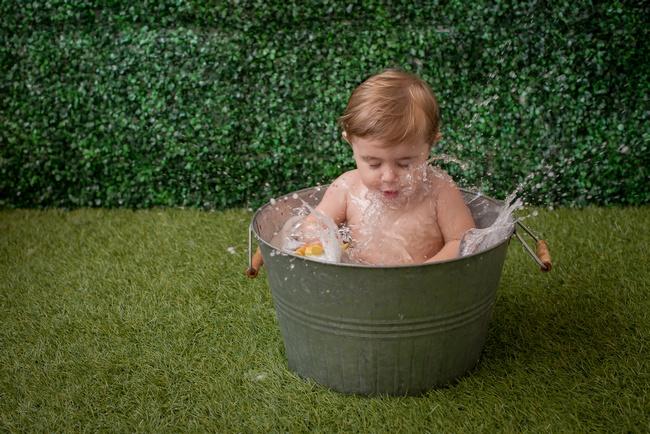 sessao de fotos splash bebe