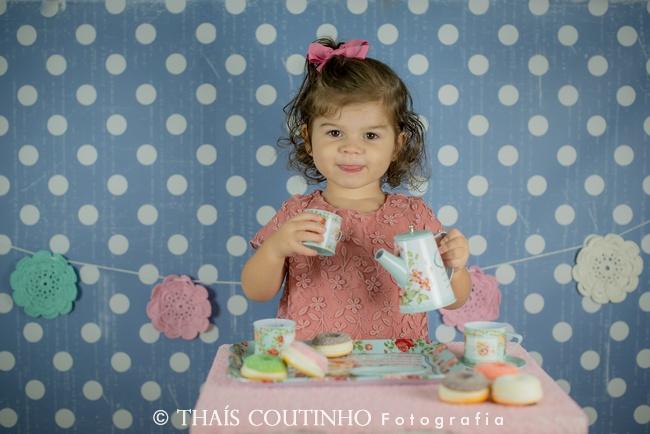 """Ensaio Infantil Studio – """"hora do chá"""" com Beatriz"""