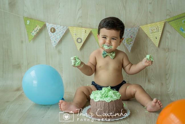 smash the cake menino