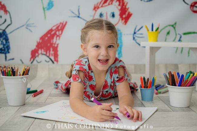Ensaio Infantil – Pintando o 7
