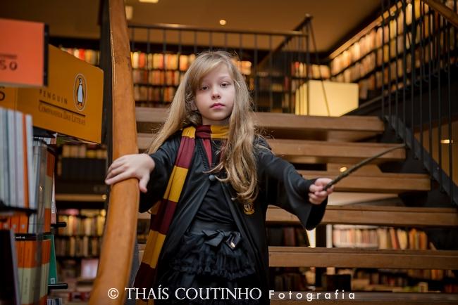 fotografia infantil livraria harry potter