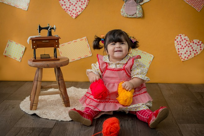 Ensaio Fotográfico Bebê - Boneca de Pano