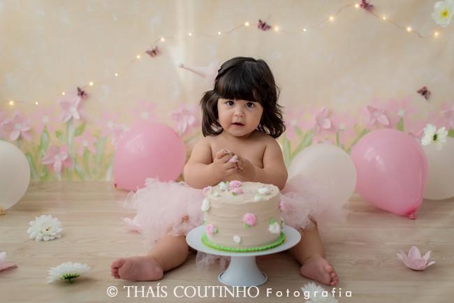 smash the cake menina jardim