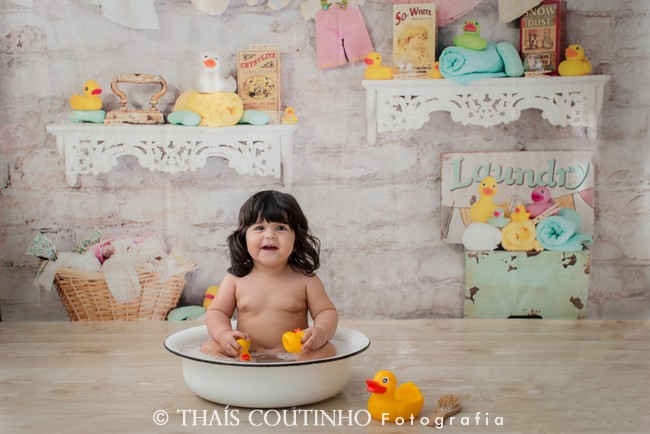 banho splash fotografia bebes