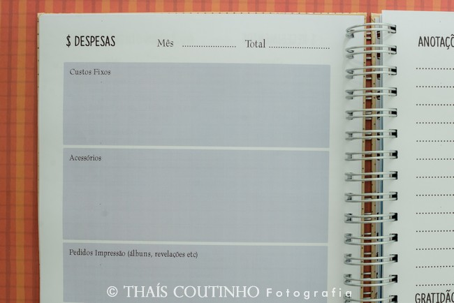 agenda planner para fotografos