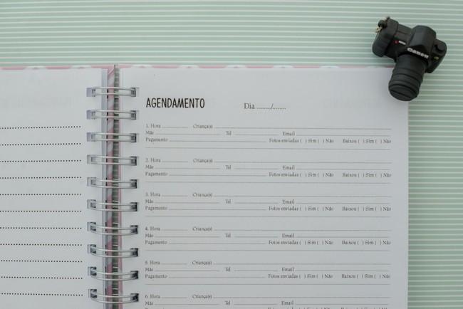 planner organizador mini sessao fotografica