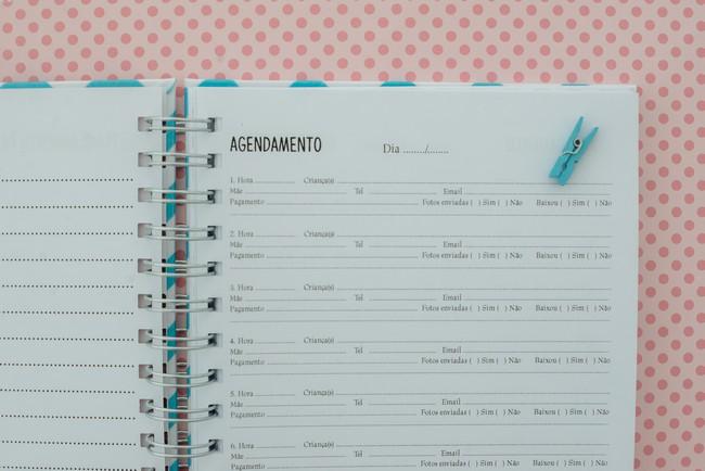 planner organizador de mini sessao fotografica