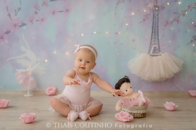 Ensaio Baby 6 meses - Pequena Bailarina