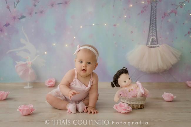 ensaio bebe menina bailarina