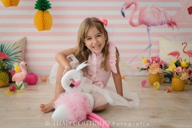 ensaio fotografico infantil flamingo