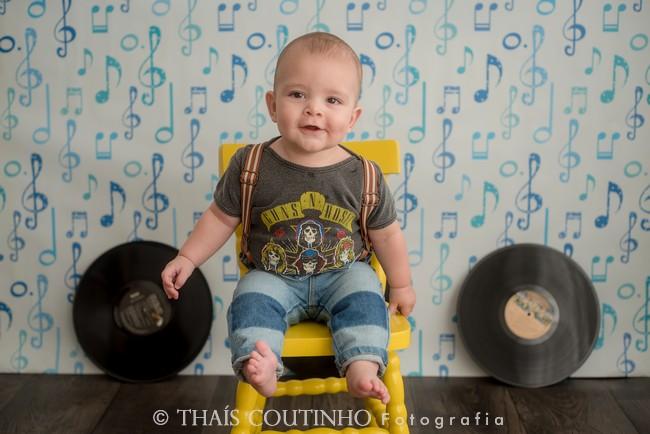 ensaio bebe musica rock