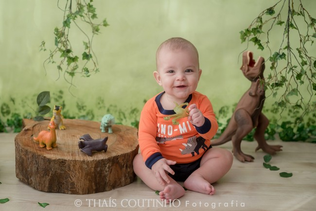 ensaio bebe dinossauros