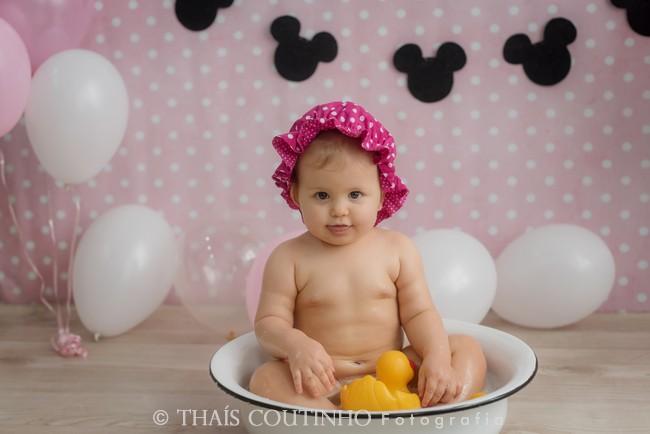 ensaio bebe minnie rosa splash