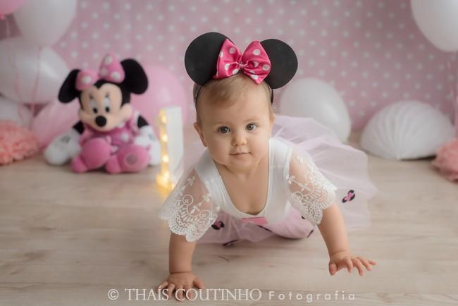 ensaio bebe minnie rosa