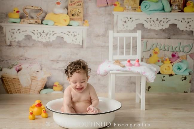 ensaio bebe banho
