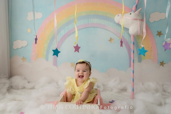 ensaio bebe 6 meses unicornio