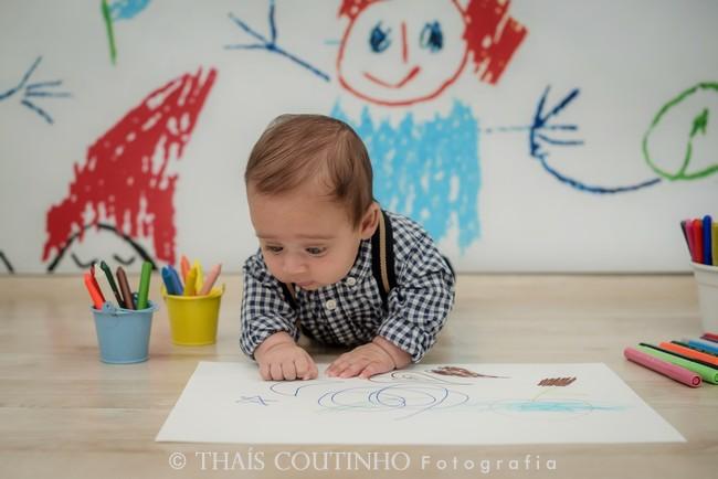sessao de fotos bebe desenho