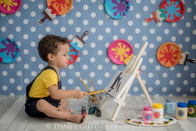 sessao de fotos pintura, pintando o 7